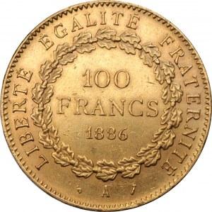 FRANCJA - 100 franków 1886 - Paryż - nakład 39 000 sztuk