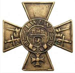 Odznaka Krzyż Obrony Lwowa z orderem Virtuti Militari i mieczami - numerowana 855