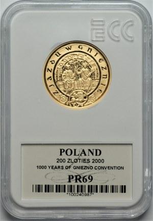 III RP - 200 złotych 2000 - 1000 lecie zjazdu w Gnieźnie - 1250 sztuk
