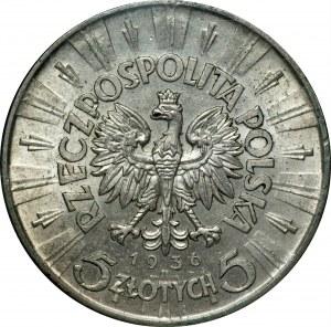 II PR - 5 złotych 1936 - Piłsudski - GCN MS63