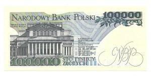 100.000 złotych 1990 - niski numer AN 0000605