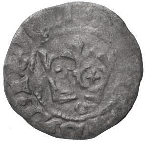 Władysław Jagiełło (1386-1434) Półgrosz - Kraków pod koroną litera O