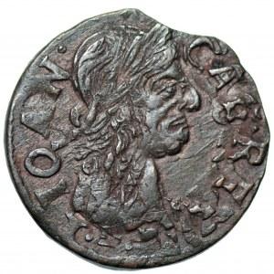 Jan II Kazimierz (1648-1668) - szeląg 166.., podwójnie uderzony