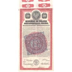 6% pożyczka dolarowa w złocie - 500 $ 1920
