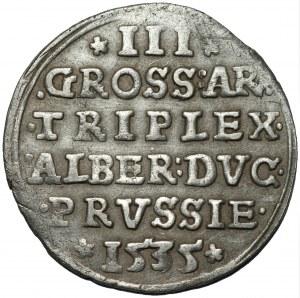 Prusy Książęce - Albert Hohenzollern (1525-1568) - trojak 1535 Królewiec