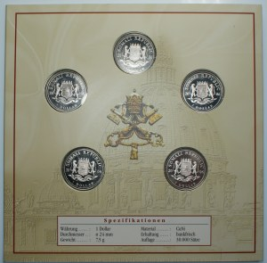SOMALIA - 5 x 1 dolar 2006 - Benedykt XVI