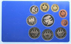 NIEMCY - zestaw 10 sztuk lustrzanek 1981 - mennica Karlsruhe (G)
