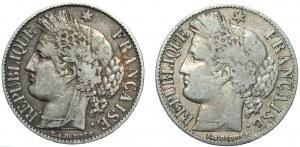 FRANCJA - 1 frank 1887, 1 Frank 1888