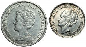 NIDERLANDY - 1 gulden 1914, 1/2 guldena 1930