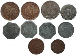 NIEMCY - zestaw 10 sztuk monet zastępczych