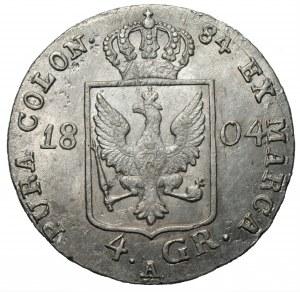 Fryderyk Wilhelm III (1797-1840) 4 grosze (1/6 talara) 1804 A