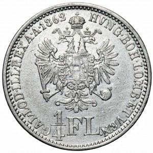 Austria - Franciszek Józef I (1848–1916) - 1/4 florena 1862 A, Wiedeń