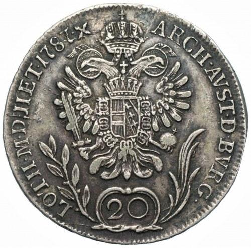 AUSTRIA - Józef II (1780–1790) - 20 krajcarów 1787 - B, Kremnica