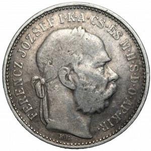 WĘGRY - 1 korona 1892 KB/Kremnica - rzadsze