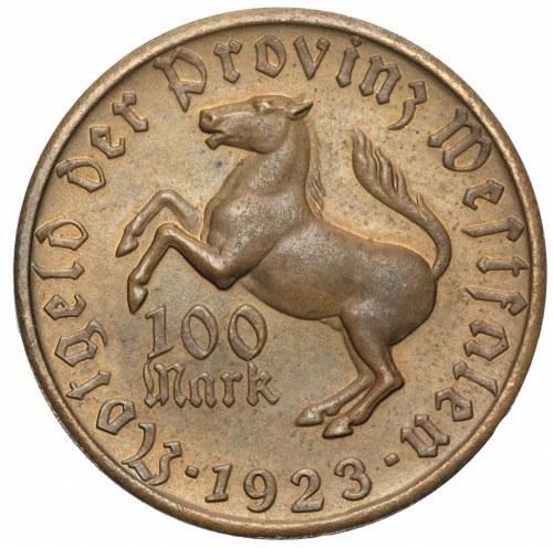 NIEMCY - Westfalia - 100 marek 1923