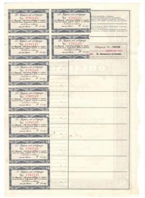 6% Pożyczki Narodowej - obligacja imienna 50 złotych 1934