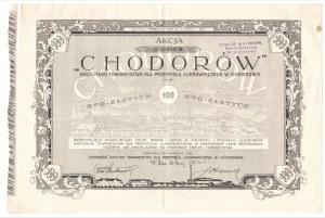 CHODORÓW - Akcyjne Towarzystwo dla Przemysłu Cukrowniczego - 1 x 100 złotych 1925