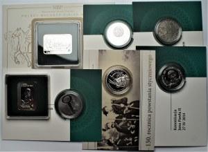 III RP - zestaw 7 monet kolekcjonerskich 10 i 20 złotych (2003-2014), Malczewski, Denar Bolesława oraz inne