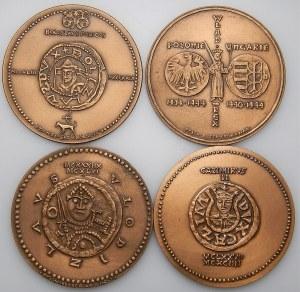 Korski - Seria Królewska - 4 medale - Bolesław V Wstydliwy, Władysław III Warneńczyk, Władysław II Wygnaniec, Kazimierz II Sprawiedliwy,