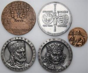 Zestaw 5 medali - Katyń,