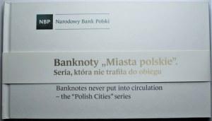 Zestaw 9 banknotów 1 do 500 złotych 1990 - Miasta Polskie