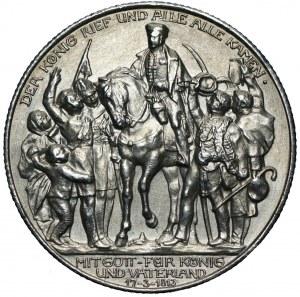 NIEMCY - Prusy - Wilhelm II - 2 marki 1913 - 100-lecie Bitwy Narodów (Bitwy pod Lipskiem)