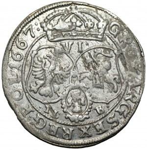 Jan II Kazimierz (1648-1668) - szóstak 1667 TLB, Bydgoszcz