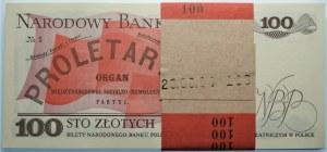 Paczka Bankowa - 100 złotych 1988 seria TG - 100 sztuk z banderolą