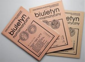 Biuletyn Numizmatyczny - komplet 1986 -