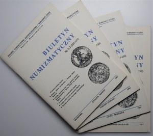 Biuletyn Numizmatyczny - komplet 1987