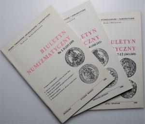 Biuletyn Numizmatyczny - komplet 1988