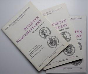 Biuletyn Numizmatyczny - komplet 1991