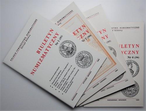 Biuletyn Numizmatyczny - komplet 1994
