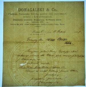 POSEN / POZNAŃ - Domagalski & Co. Pierwsza Poznańska fabryka parowa oleji eterycznych... Destylacja koniaków....