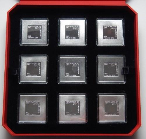 KAMERUN - 9 x 500 franków 2017 seria Maria Matka Miłosierdzia