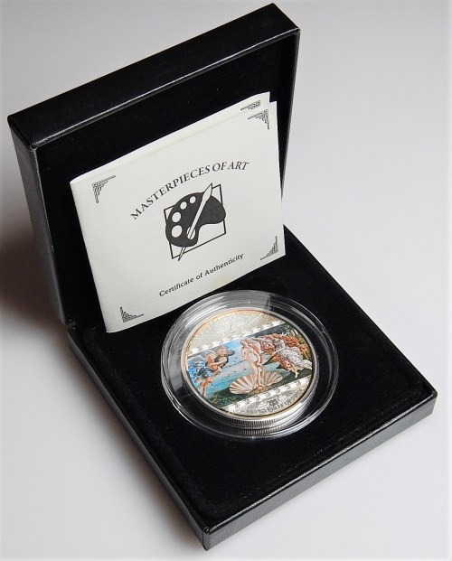 COOK ISLANDS - 20 dolarów 2010 - Masterpieces of Art - Narodziny Wenus