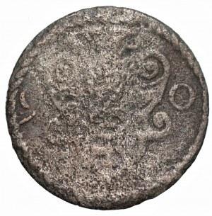 Zygmunt III Waza (1587-1632) - Denar gdański 1590 - R3