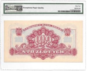 100 złotych 1944 - obowiązkowe - seria Au - PMG 64 EPQ