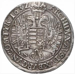 AUSTRIA - Ferdynand II (1619-1637) - talar 1632 NB, Nagybánya - rzadki