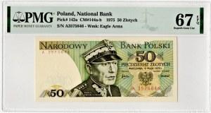 PRL - 50 złotych 1975 - seria A - PMG 67 EPQ