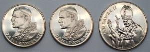 Jan Paweł II - zestaw 3 srebrnych monet (1982-1987)