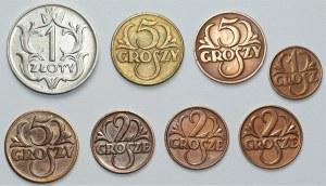 II RP - zestaw monet groszowych + 1 złoty (1923-1933)