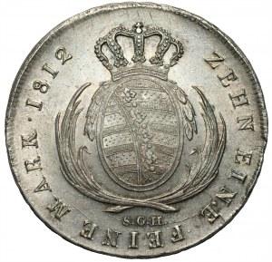 NIEMCY - Saksonia - Fryderyk August I (1806–1827) - talar 1812 SGH Drezno