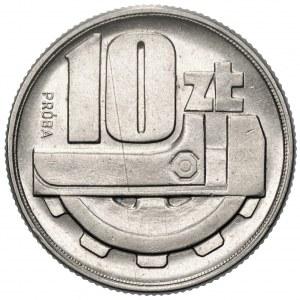 Próba NIKIEL - 10 złotych 1960 - Klucz i koło zębate