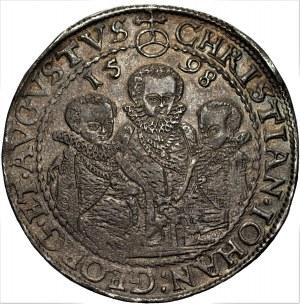 NIEMCY - Saksonia, Krystian II, Jan Jerzy I i August - Talar 1598 HB Drezno