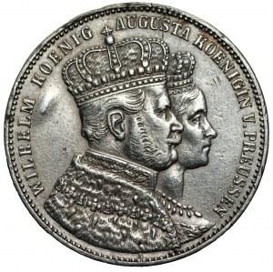 NIEMCY - Prusy - Wilhelm I (1861-1888) - Talar koronacyjny 1861