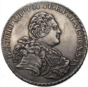 NIEMCY - Saksonia - Fryderyk Krystian - Talar 1763 IFôF (S) Lipsk