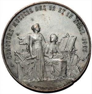 FRANCJA - medal konkurs muzyczny 12-13 kwiecień 1903