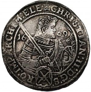 NIEMCY - Saksonia - Krystian, Jan Jerzy, August (1591-1611) - Talar 1609