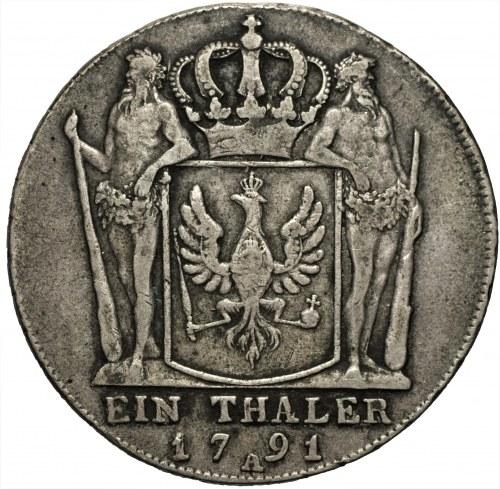 NIEMCY - Brandenburgia - Prusy Fryderyk Wilhelm II (1786-1797) - Talar 1791 A